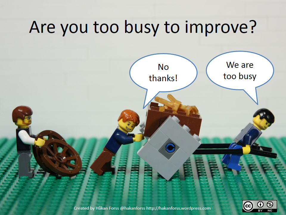 Are you too busy to improve? webcomic